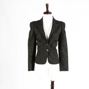 JUST CAVALLI – Damask Fitted Blazer – Size 40